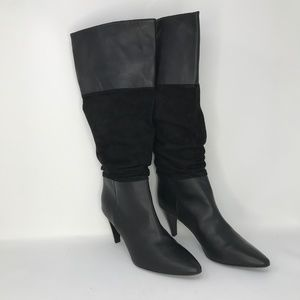 Emporio Armani Black Knee High Slouch Boots